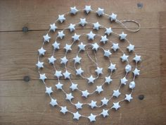 Origami Star Garland w/ Red White string