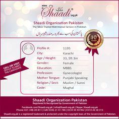 Female Proposal From Karachi  Muslim, Sunni, Good Looking, Fair & Smart. Contact for details: Shaadi.org.pk Looking for well established and educated family proposals.  Shaadi Organization Pakistan The Most Trusted Matrimonial Service in Pakistan Register Now: www.Shaadi.org.pk FB: https://www.facebook.com/Shaadi.org.pk 021-34830811 Registered and Recognized by the Government of Pakistan  #ShaadiOrganizationPakistan #TrustedRishtaServices #Nikkah #Wedding #Pakistan #ShaadiOrgPk #Lifepartner