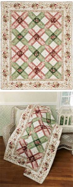 ROSE LATTICE QUILT KIT