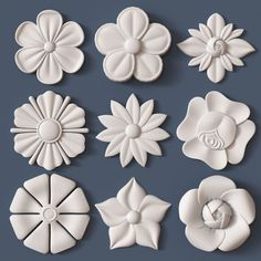 Discover thousands of images about architectural kit bash model obj stl 26 Wood Carving Designs, Wood Carving Art, Wood Art, Clay Art Projects, Clay Crafts, Diy And Crafts, Ceramic Flowers, Clay Flowers, Diy Bottle