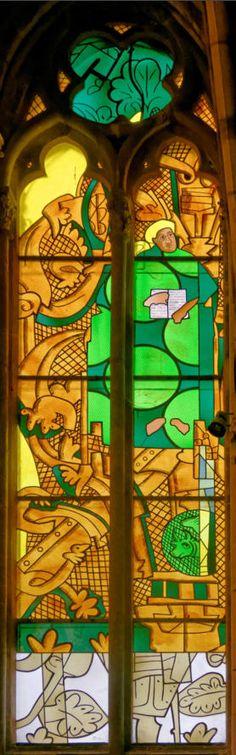 Luke: Jean - Michel · Alberola - Dominique Duchemin ( master glass artist ) - Saint-Cyr Cathedral and St. Julitta of Nevers, France