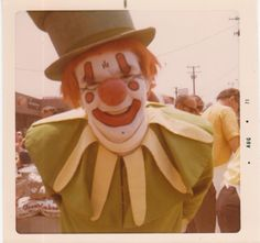 Vintage Photo of OOPSY the Clown - Detroit Michigan