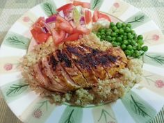 Southern Mommyhood: No Dairy, No Soy, All Love: What's For Dinner: Dairy Soy Free Chipotle Pepper Chicken, Quinoa, Peas, & Salad