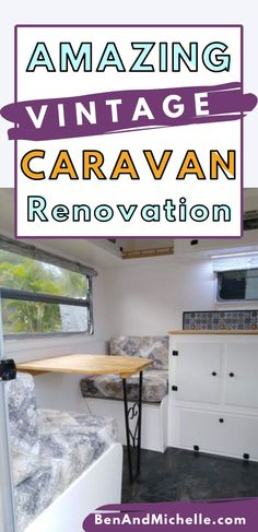 See this beautiful renovation of a vintage caravan here in Australia. From a total wreck to a cute, little beauty, you'll love the caravan decor ideas in this van. Vintage caravan renovation | Caravan remodel | Retro caravan | Caravan makeover Best Caravan, Diy Caravan, Caravan Decor, Retro Caravan, Rv Interior, Interior Ideas, Interior Decorating, Vintage Caravan Interiors, Vintage Caravans
