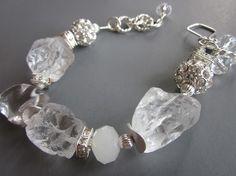 On The Rocks Chunky Quartz bracelet (SOLD)   Hog Wild Jewelry on Art Fire