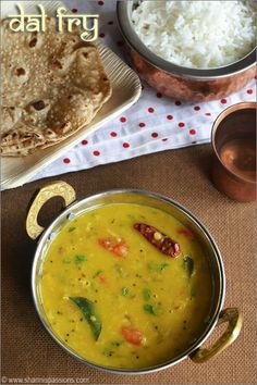 Dal Fry Recipe - A Popular Restaurant Style Punjabi Dal Fry Recipe with stepwise pictures!