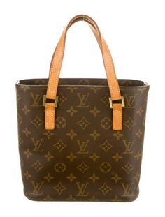 012c37056660 Brown and tan monogram coated canvas Louis Vuitton Vavin PM with brass  hardware