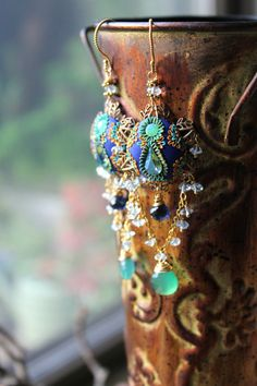 Vintage brass filigree floral clay detailed by Peelirohini on Etsy, $84.00