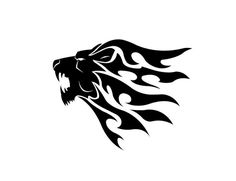 tribal Tattoo Design-Löwenkopf-Ideen für Männer
