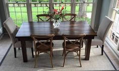 6' Farmhouse Table in Kona stain with Satin Sheen