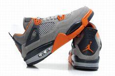 best website efe57 fa239 Nike · gray and orange jordans   Grey Air Jordan 4 Orange Jordan 4 Cheap  For Sale