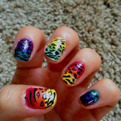 Wild animal print nails