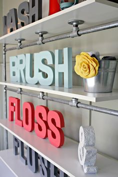 Easy and Colorful Bathroom Updates