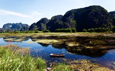 Ninh Binh, an attraction in northern Vietnam to explore quintessentially Vietnamese limestone scenery #nature #guide #scenery #boat