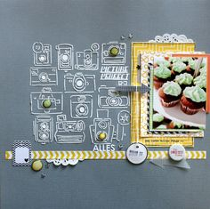 """Layout von Nadine Westphal für www.danipeuss.de   Echo Park """"Yellow Submarine"""""""
