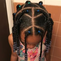 ✨Braids & Rubberbands✨ This style was done on wet hair. Products used: curl custard oil… Lil Girl Hairstyles, Girls Natural Hairstyles, Natural Hairstyles For Kids, Kids Braided Hairstyles, School Hairstyles, Wedding Hairstyles, Toddler Hairstyles, Curly Hair Styles, Natural Hair Styles
