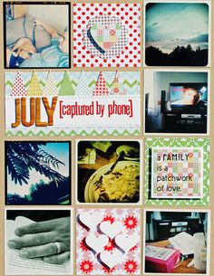 I love the idea of capturing a month in one layout like this!  (Melissa Mann @ Lily Bee Blog 8/27/12)