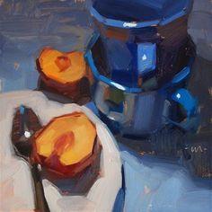 "Daily Paintworks - ""Plum Line"" - Original Fine Art for Sale - © Carol Marine"