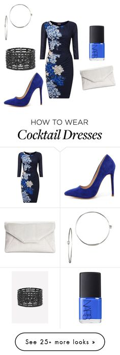 """""""Blue cocktail dress"""" by tinatrumbach on Polyvore featuring Phase Eight, Style & Co., NARS Cosmetics, Bebe, Liliana and Lana"""