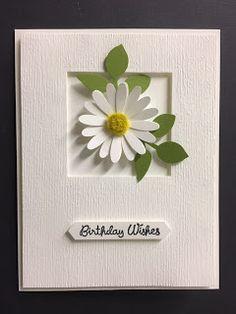 handmade My Creative Corner!: Varied Vases, Medium Daisy Punch, Birthday Card, Stampin' Up! Homemade Birthday Cards, Homemade Cards, Card Birthday, Flower Birthday Cards, Diy Birthday, Stampin Up, Happpy Birthday, Stamping Up Cards, Rubber Stamping