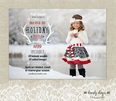 Hoilday Mini Christmas Mini Session Template by LovelyDaysCreative, $8.00