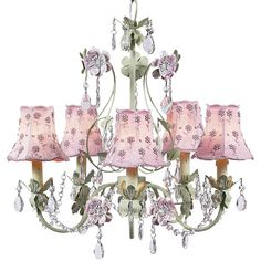 No nursery for a little Princess is complete with out a chandelier! This Rebecca Chandelier from @PoshTots is a fave!