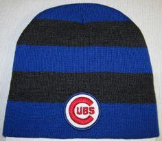 c2f3652e1f368 CHICAGO CUBS BEANIE ~SCULL CAP ~HAT ~VINTAGE MLB PATCH LOGO ~ROYAL Blue