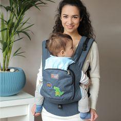 Love & Carry ergonomic soft-structrured baby carrier, dark grey color