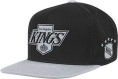 Los Angeles Kings Black Mitchell & Ness Retro Logo 2-Tone Snapback Hat | Sport Snapback Hats