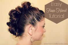 Easy Faux-Hawk Tutorial