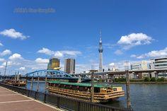 東京スカイツリー 隅田川 屋形船 駒形橋