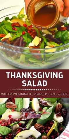 Thanksgiving Salad, Best Thanksgiving Recipes, Thanksgiving Dinner Recipes, Thanksgiving Side Dishes, Holiday Dinner, Fall Recipes, Holiday Recipes, Healthy Recipes, Traditional Thanksgiving Recipes