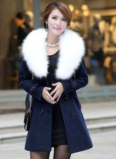 Soft & grey coat for women. http://www.formalworkattire.com ...