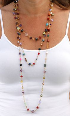 Necklace cute idea for left over beads jwj