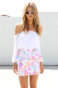 peplum skirt outfit tumblr - Google Search