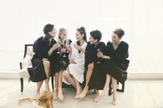 Stunning bridal party beauty by Vênsette. We love the bridesmaids' gorgeous wedding ponytails. See the entire Vênsette wedding: blog.vensette.com.