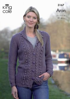 Cardigan and Waistcoat in King Cole Merino Blend Aran - 3167. Discover more Patterns by King Cole at LoveKnitting. The world's largest range of knitting supplies - we stock patterns, yarn, needles and books from all of your favorite brands.