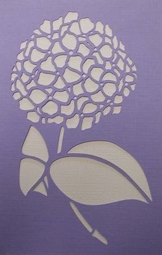 Hydrangea Stencil by kraftkutz on Etsy