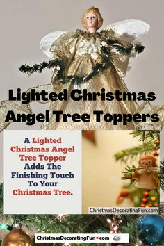 A Lighted Christmas Angel Tree Topper Adds The Finishing Touch To Your Christmas Tree. Nothing feels more complete than a perfectly finished, well decorated Christmas tree. Adding a pre-lit angel tree topper should be the icing on the cake. Christmas Decorations For The Home, Christmas Tree Toppers, Christmas Angels, Holiday Fun, Christmas Holidays, Favorite Christmas Songs, Favorite Holiday, Lighted Angel Tree Topper, Holiday Party Games