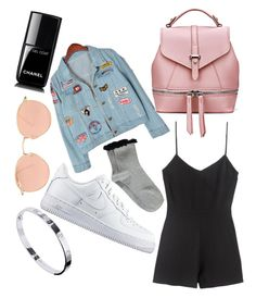 """""""Hang-out"""" by birsueksi ❤ liked on Polyvore featuring Chicnova Fashion, Boohoo, NIKE, Cartier, Ray-Ban and Chanel"""