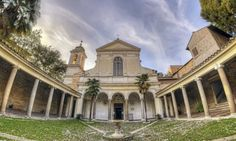 Blessing of Light. HDR image San Clemente church Rome   HDR Photography Giuseppe Sapori