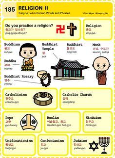 185 Learn Korean Hangul Religion 2