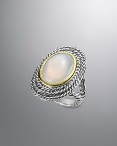 Cable Coil Ring, Moon Quartz