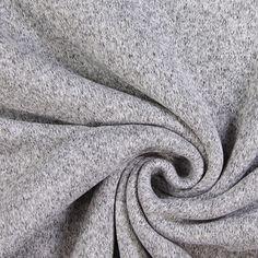 Strickfleece 5 - hellgrau - Grau - Strickfleece - Strickstoffe uni - Jackenstoffe & Mantelstoffe - stoffe.de