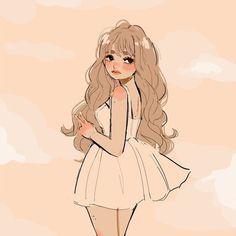 Pretty Drawings, Kawaii Drawings, Art Drawings Sketches, Cute Art Styles, Cartoon Art Styles, Cartoon Girl Drawing, Girl Cartoon, Cartoon Kunst, Dibujos Cute