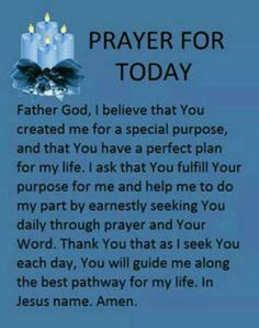 Daily Prayer for Today Prayer Times, Prayer Scriptures, Bible Prayers, Faith Prayer, God Prayer, Power Of Prayer, Prayer Quotes, Prayer Room, Bible Verses