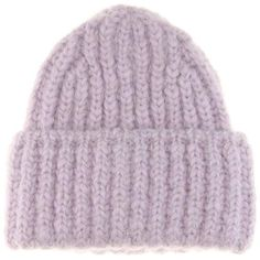 Acne Studios Wool and Mohair-Blend Hat (22.390 RUB) ❤ liked on Polyvore featuring accessories, hats, acne studios, beanie, hats/hair accessorie, purple, wool hat, purple beanie hat, purple beanie and beanie cap hat