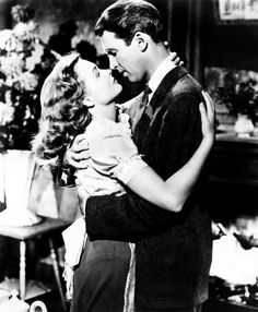 Most Famous Kisses - 'It's a Wonderful Life' - In the 1946 classic, James Stewart plays a small-town man whose life seems so desperate he contemplates suicide. He marries his childhood sweetheart Donna Reed and is stopped from jumping off a from a bridge by his guardian angel, who shows him what life would have become had he had never lived.