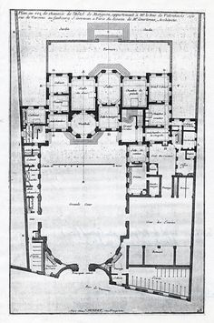 Hotel de Matignon, rue de Varenne, Paris.  Ground floor plan.