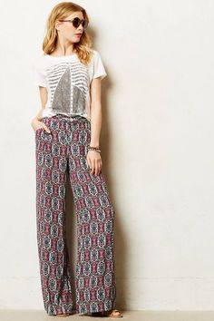 Anthropologie Southshore Wide-Legs 8 Tall & 14, Printed Trousers Pants Elevenses #Elevenses #CasualPants